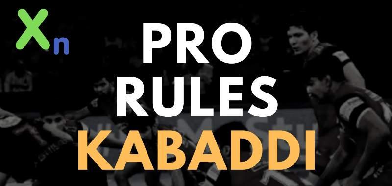 pro kabaddi rules